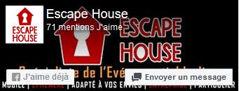 Escape House sur FaceBook : suivez-nous
