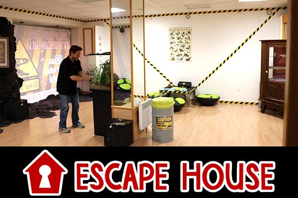 Escape Game éphémère itinérant mis en place sur le FLIP de Parthenay par Escape House