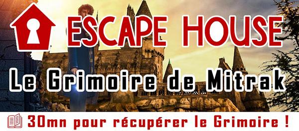 Scénario Escape Game : Le Grimoire de Mitrak - Escape House